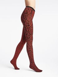 Blotched Snake Tights Red Rust/Black