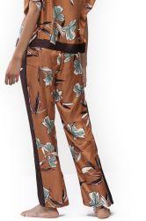 Samira silkkisekoite-housu Bronze