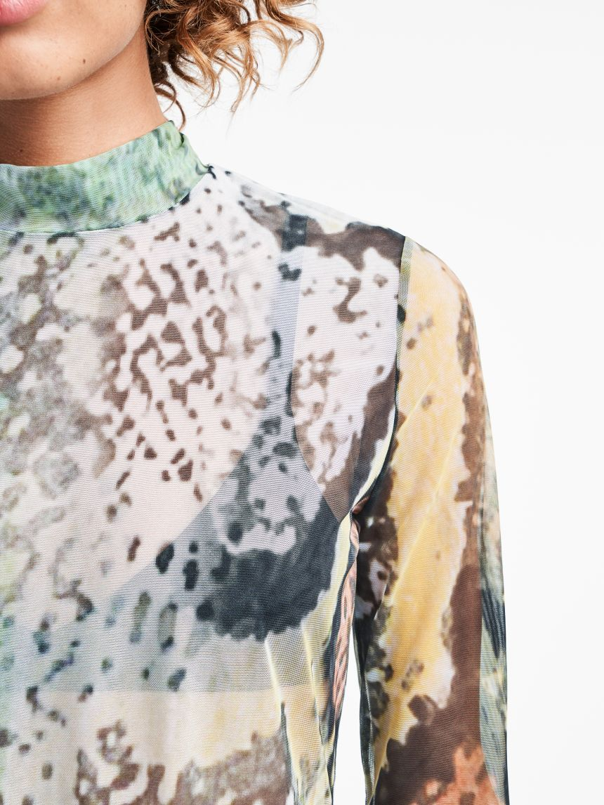 Tulle Pullover Reptile Print
