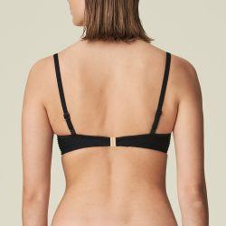 BRIGITTE topattu olkaimeton bikiniliivi Musta