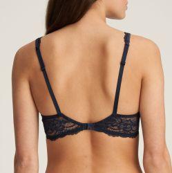SYLVIA topattu pisaramallinen rintaliivi Velvet blue