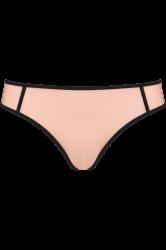 Meringue string-housu Black & Pale Peach