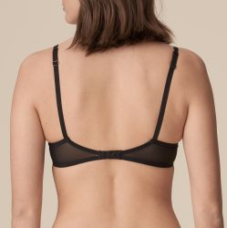 Pearl balconette-rintaliivi pystysaumalla Musta