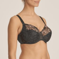 Wild Flower full cup bra Night Grey