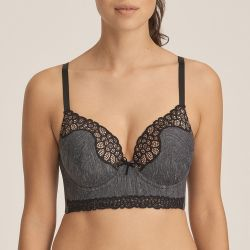 Celebrity padded plunge bra Black