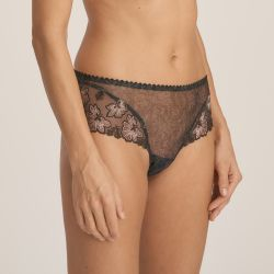 Wild Flower luxury thong Night Grey