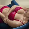 French Kiss topattu balconette -rintaliivi Persian Red